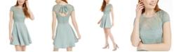 B Darlin Juniors' Lace-Top A-Line Dress
