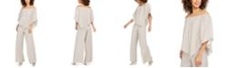 MSK Off-The-Shoulder Shimmer Popover Jumpsuit