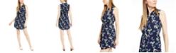 Maison Jules Printed Double-Hem Sleeveless Dress, Created for Macy's