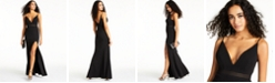 City Studios Juniors' Plunge Sleeveless Maxi Dress