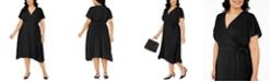 Alfani Plus Size Midi Wrap Dress, Created for Macy's
