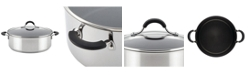 Circulon Innovatum Stainless Steel Wide Nonstick 7.5-Qt. Stockpot with Glass Lid