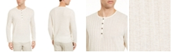 Alfani Men's Textured Henley Sweater, Created for Macy's