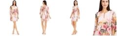 Connected Chiffon-Sleeve Shift Dress