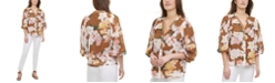 Calvin Klein Ruffled-Trim Printed Top