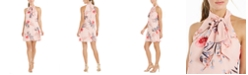 Vince Camuto Floral-Print Bow Shift Dress
