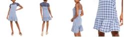 Michael Kors Glam Plaid Slip Dress