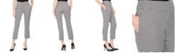 Kasper Petite Circle Jacquard Slim Ankle Pants