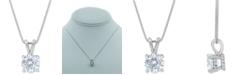 Macy's Star Signature Diamond Macy's Star Signature Certified Diamond Solitaire Pendant Necklace (1-3/4 ct. t.w.) in 14k White Gold