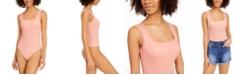Planet Gold Juniors' Lace-Trim Bodysuit
