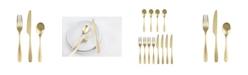 Cambridge Eliana Champagne Gold Satin 12-Piece Flatware Set, Service for 4