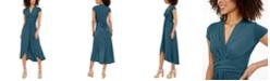 Michael Kors Plus Size High-Low Wrap Dress