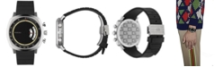 Gucci Men's Swiss Chronograph Grip Black Rubber Strap Watch 40mm
