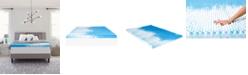 "Comfort Revolution 4"" Reversible Convoluted Memory Foam Mattress Topper, Full"