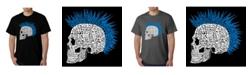 LA Pop Art Men's Word Art - Punk Mohawk T-Shirt