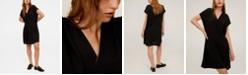 MANGO V-Neckline Short Dress
