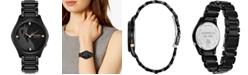 Citizen Citizen Eco-Drive Women's Maleficent Diamond-Accent Black Stainless Steel Bracelet Watch 34mm