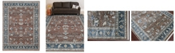 """Amer Rugs Arcadia ARC-3 Red/ Navy 5' x 7'8"""" Area Rug"""