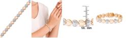 Macy's Diamond Accent Heart Link Bracelet in Rose Gold-Plate