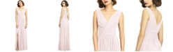 Dessy Collection Shirred Chiffon Gown