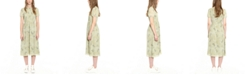 Michael Kors Pintucked Midi Dress