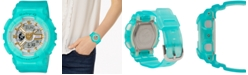 G-Shock Women's Analog-Digital Frosted Blue Resin Strap Watch 43.4mm