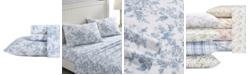 Laura Ashley Vanessa Flannel Cotton King Sheet Set