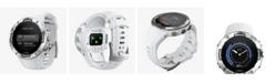 Suunto 5 Men's White Silicon Strap Compact GPS Sports Watch, 46mm