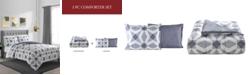 Sunham Geo 3-Pc. Reversible Full/Queen Comforter Set