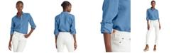Lauren Ralph Lauren Roll-Tab Long Sleeve Top