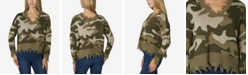 Polly & Esther Juniors' Destructed Camo Sweater