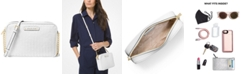 Michael Kors Large East West Woven Leather Crossbody