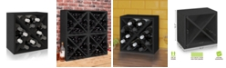 Way Basics Stackable Blox Wine Cube Storage 12 Bottles