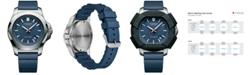 Victorinox Swiss Army Men's I.N.O.X. Blue Rubber Strap Watch 43mm 241688.1