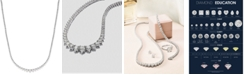 Macy's Certified Diamond Riviera Chain Necklace in 14k White Gold (10 ct. t.w.)
