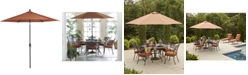 Furniture Chateau Outdoor 9' Push Button Tilt Umbrella, Created for Macy's
