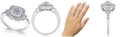 Macy's Diamond Vintage-Inspired Ring (1/2 ct. t.w.) in 14k White Gold, Yellow Gold and Rose Gold