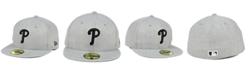 New Era Philadelphia Phillies Heather Black White 59FIFTY Fitted Cap