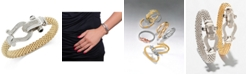 Macy's Diamond Horseshoe Clasp Mesh Bracelet (5/8 ct. t.w.) in 14k Gold-Plated Sterling Silver (Also available in Sterling Silver)