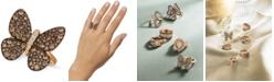 Le Vian Chocolatier®  Chocolatier Diamond Butterfly Ring (1-7/8 ct. t.w.) in 14k Rose Gold
