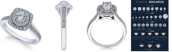 X3 Diamond Engagement Ring (1 ct. t.w.) in 18k White Gold, Created for Macy's
