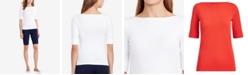 Lauren Ralph Lauren Petite Boat Neck T-Shirt