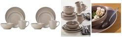 Dansk Kisco Taupe 16-Piece Dinnerware Set