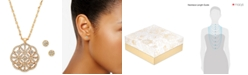 Charter Club Gold-Tone Pavé Necklace & Stud Earrings Set, Created for Macy's
