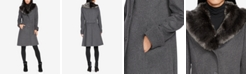 Lauren Ralph Lauren Faux-Fur-Collar Walker Coat