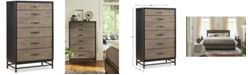 Furniture Avery Brown 5 Drawer Chest