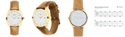 Movado Women's Swiss Heritage Series Datron Brown Leather Strap Watch 31mm