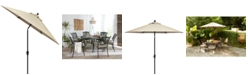 Furniture Chateau Outdoor 9' Push Button Tilt Umbrella with Sunbrella® Fabric, Created for Macy's