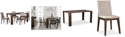 Furniture Closeout! Crosby Dining Furniture, 5-Pc. Set (Table & 4 Upholstered Side Chairs), Created for Macy's