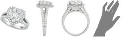 Centennial Diamond Heart Cluster Engagement Ring (1-1/2 ct. t.w.) in 14k White Gold